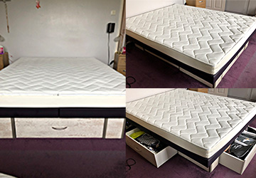 Quatro 160cm x 200cm XL 3 drawer   Waterbed for sale
